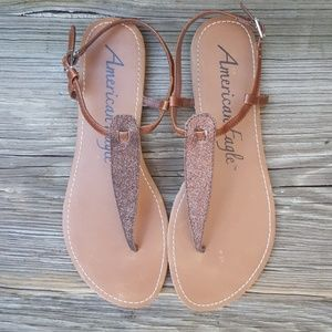 Women's American Eagle Glittery Thong Sandals